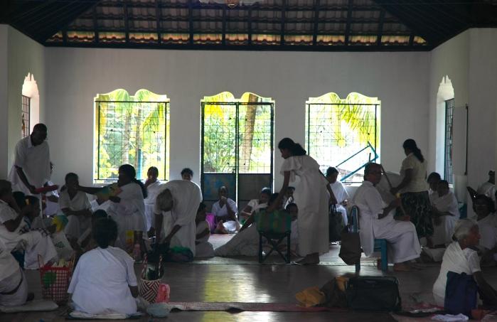 White clad devotees