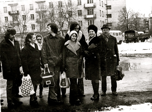 Student days in Moscow