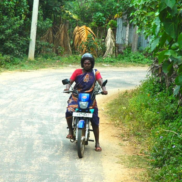 Lady on her bike