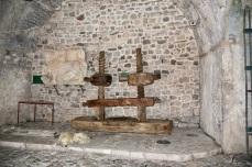 Wine press in museum