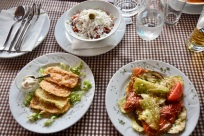 Pastries, salads & grilled vegetables