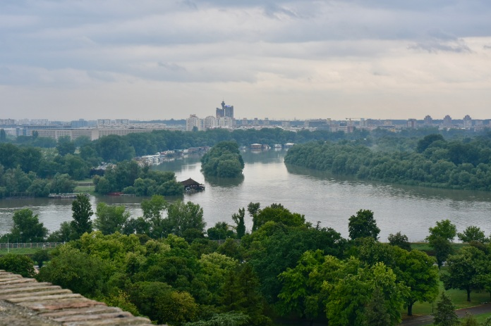 Confluence of rivers Sava & Danube