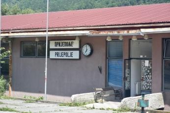 Prije Polje station in Serbia